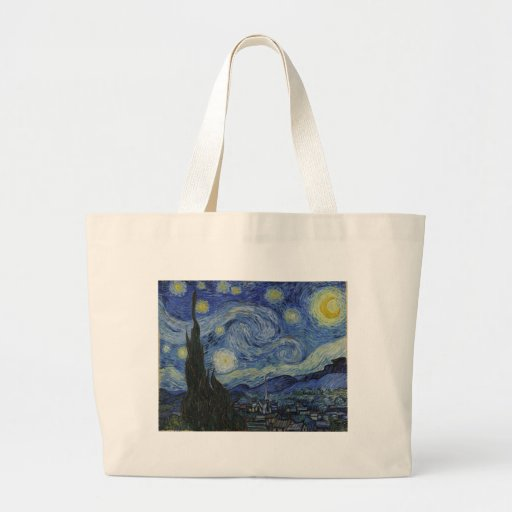 The Starry Night, 1889 by Vincent van Gogh Canvas Bag