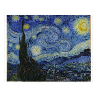 The Starry Night, 1889 by Vincent van Gogh Postcard