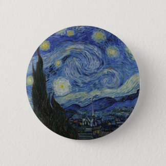 The Starry Night 1889 Vincent van Gogh 6 Cm Round Badge