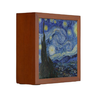 The Starry Night by Van Gogh Desk Organizer Pencil/Pen Holder