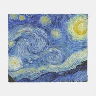 The Starry Night by Van Gogh Fleece Blanket