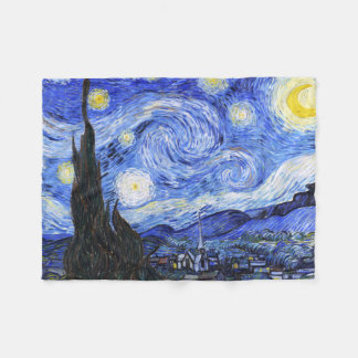 The Starry Night by Van Gogh Fleece Blanket