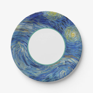 The Starry Night by Van Gogh Paper Plate