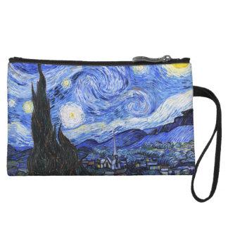 The Starry Night by Van Gogh Wristlet Purse
