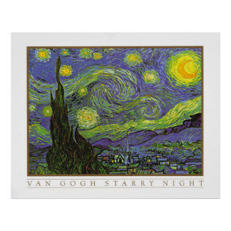 The Starry Night by Vincent Van Gogh 1888 Print