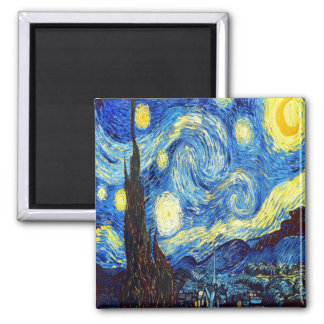 The Starry Night by Vincent van Gogh 1889 Refrigerator Magnets