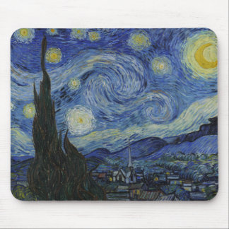 The Starry Night by Vincent van Gogh Mouse Pad