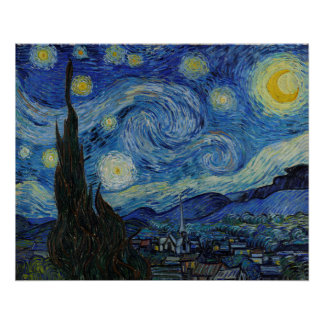 The Starry Night by Vincent van Gogh Poster