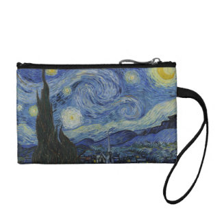 The Starry Night Key Coin Clutch Change Purse