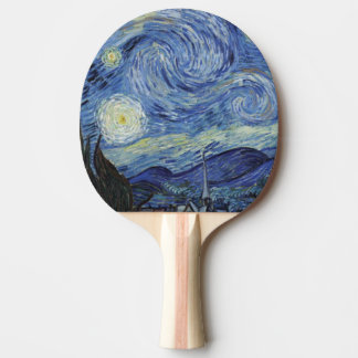 The Starry Night Ping Pong Paddle
