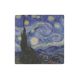The Starry Night Stone Magnet