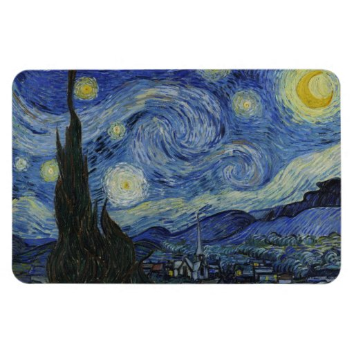 The Starry Night - Van Gogh (1888) Rectangle Magnets