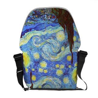 The Starry Night, Vincent van Gogh Messenger Bag
