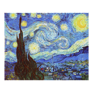 The Starry Night, Vincent van Gogh Poster