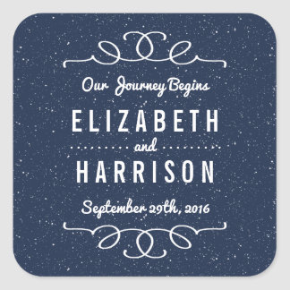 The Starry Night Wedding Collection - Favor Square Sticker