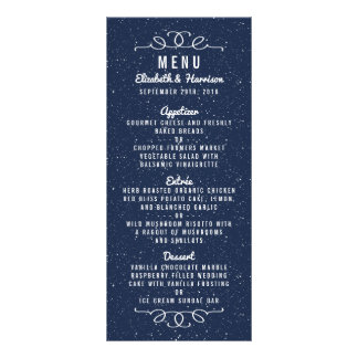 The Starry Night Wedding Collection - Menu