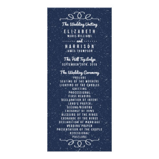 The Starry Night Wedding Collection - Program Rack Card