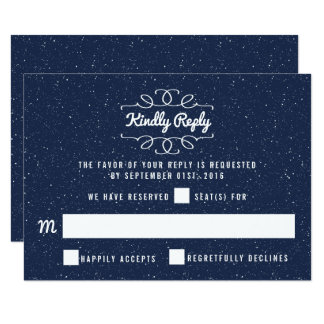 The Starry Night Wedding Collection - RSVP Card
