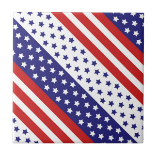 The Stars and Stripes Ceramic Tile