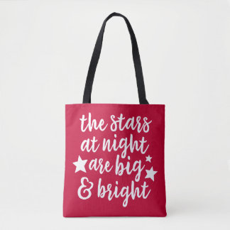 The Stars at Night Texas Red/Blue Tote Bag