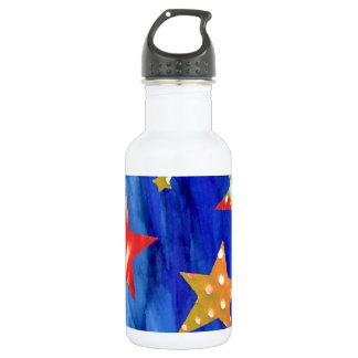The Stars In The Bright Sky Water Bottle