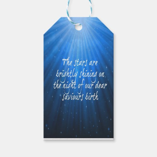 The Stars Shining Bright On The Dear Saviours Gift Tags