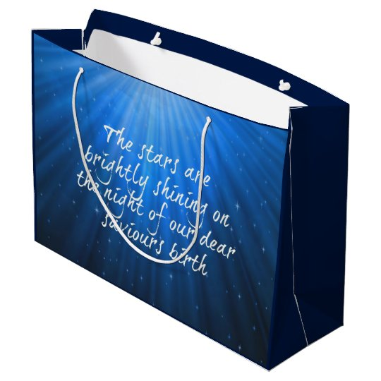 The Stars Shining Bright On The Dear Saviours Large Gift Bag
