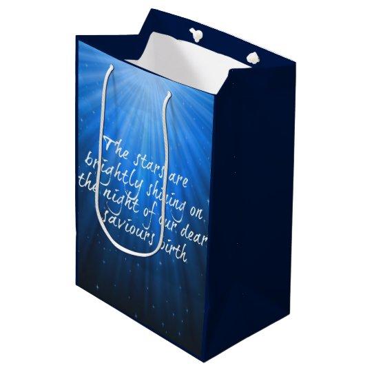 The Stars Shining Bright On The Dear Saviours Medium Gift Bag