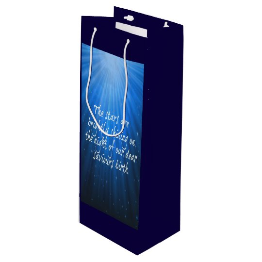 The Stars Shining Bright On The Dear Saviours Wine Gift Bag