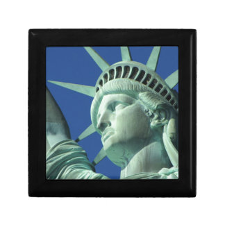 The Statue Of Liberty At New York City Trinket Box