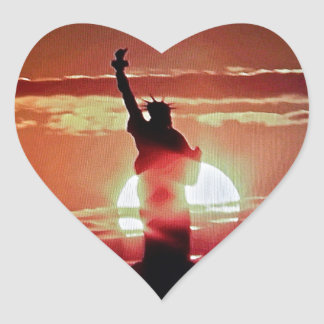 The Statue of Liberty. Heart Sticker