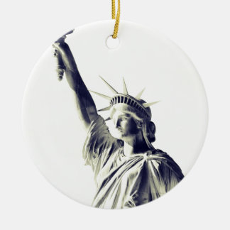 The Statue of Liberty, NYC Round Ceramic Decoration