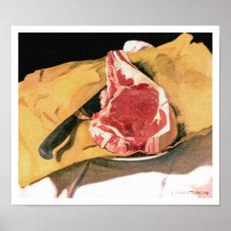 The Steak by Felix Vallotton, 1914 Poster