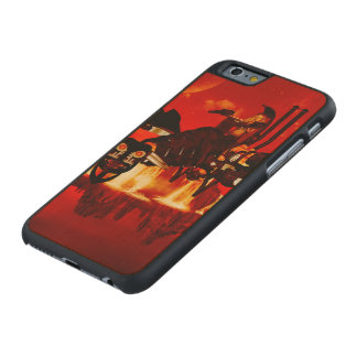 The steam dragon in the sunset carved® maple iPhone 6 slim case