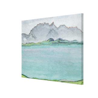 The Stockhorn Mountains and Lake Thun, 1911 Canvas Print