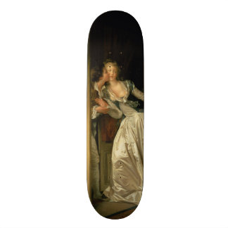 The Stolen Kiss by Jean-Honore Fragonard Skateboards