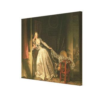 The Stolen Kiss, c.1788 Canvas Print