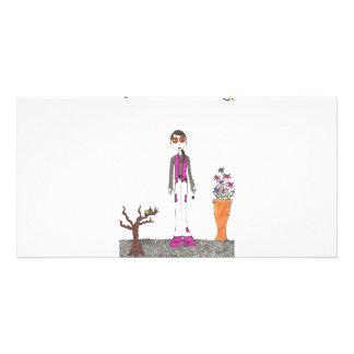 The stone garden photo card template