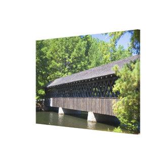 The Stone Mountain Covered Bridge at Stone Canvas Print