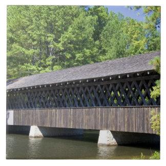 The Stone Mountain Covered Bridge at Stone Large Square Tile