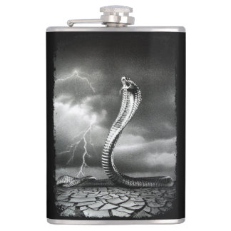 THE STORM IS COMING HIP FLASK