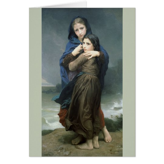 The Storm (L'Orage) by Bouguereau Card