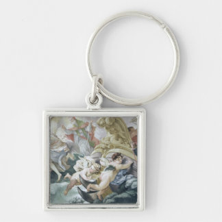 The Storm Miraculously Calmed on Contact with the Silver-Colored Square Key Ring