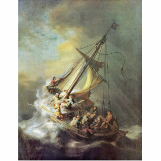 The Storm On The Sea Of Galilee. By Rembrandt Van Standing Photo Sculpture