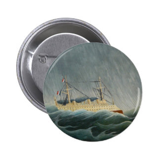 The Storm Tossed Vessel Pinback Buttons