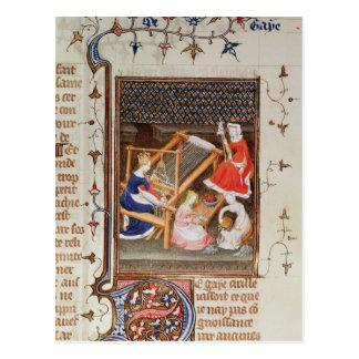 The Story of Gaia, from `De Claris Mulieribus' Postcard