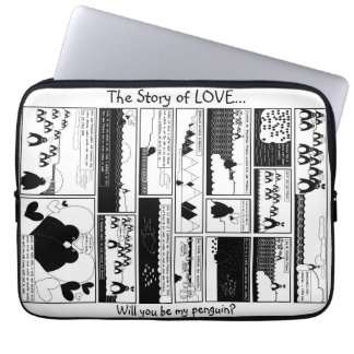 The Story of Love - White BG Laptop Sleeve