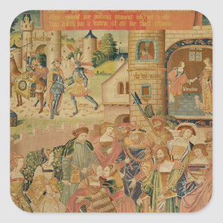 The Story of Perseus, 15th-16th century Square Sticker