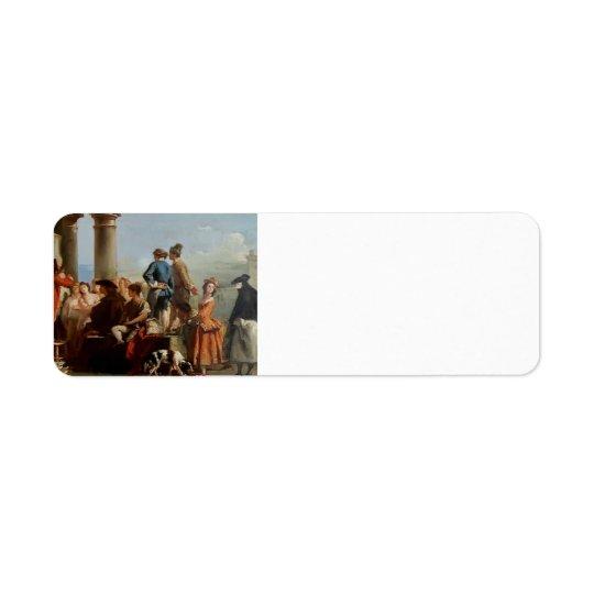The Storyteller by Giovanni Domenico Tiepolo Return Address Label