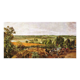 The Stour Valley With The Church Of Dedham By Joh Photo Card
